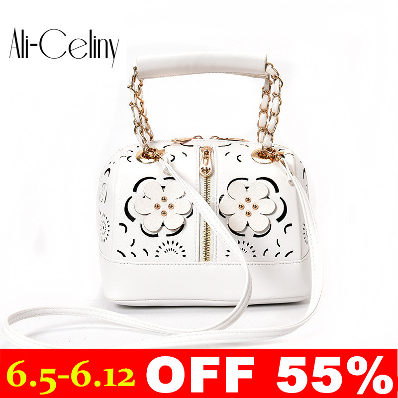 Brand original design Hollowed flowers High Quality Designer Women Boston Bag Leather Bag Women Crossbody Bag Ladies Tote