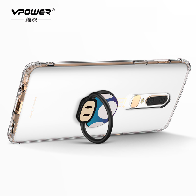 quality design 3e409 d30cc US $1.99 20% OFF|Vpower Oneplus 6 Case Oneplus 6 Cover Ring Holder Soft TPU  Protective Back Cover 1+6 Oneplus6 Case Transparent Silicone 6.28inch-in ...