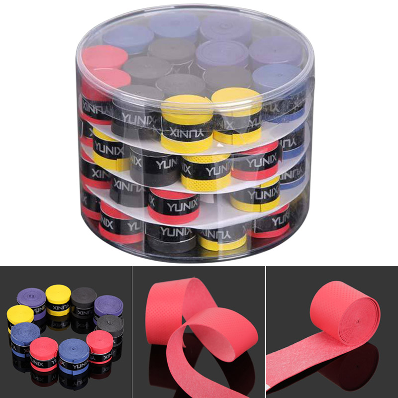 60pcs Universal Sweatbands Overgrip Tape For Fishing Rods Badminton Grips Slingshot Tennis Racket Dumbbell