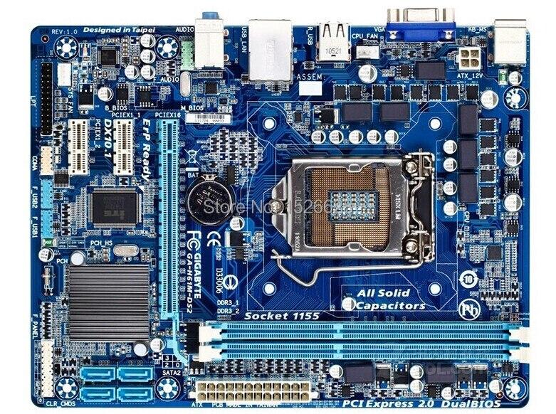 100% d'origine Livraison gratuite carte mère pour Gigabyte GA-H61M-DS2 H61M-DS2 DDR3 LGA 1155 livraison gratuite