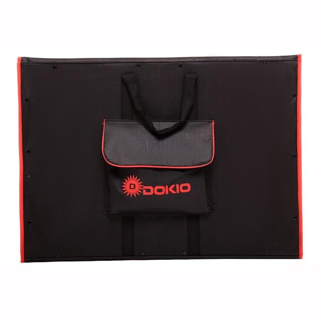 Dokio Flexible Foldable Solar Panel High Efficience Travel & Phone & Boat Portable 12V 80w 100w 150w 200w 300w Solar Panel Kit 6