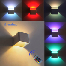 3W LED Wall Light G4 bedroom Wall Lamp 220V RGB With remote control for home Modern Living Room Wall lamps Porch lights