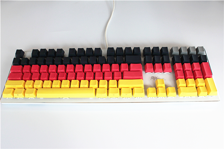 104/87 keys OEM Profile Keycaps Cherry MX switch Thicken PBT Keycaps Radium valture Side ...