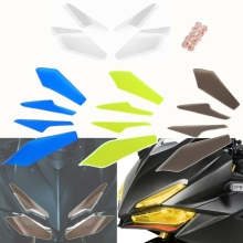 Left Right Front Headlight lens Guard Lens Screen Cover Protector for 2017 18 Honda CBR250RR CBR 250RR  250 RR Acrylic Plastic