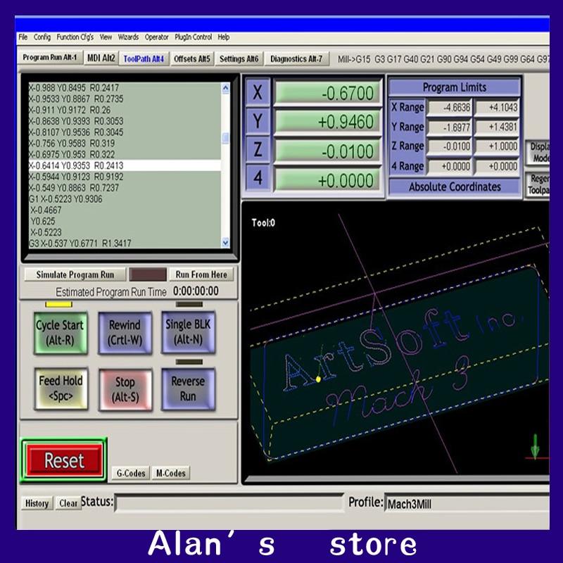 Mach3 Software,English Newest Version,Mach3 Version R3.041,mini Engrave Machine