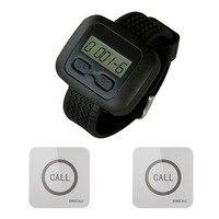 SINGCALL беспроводной для вызова обслуживающего персонала пейджер Системы, 1 часы приемника с 2 осязаемый колокольчика, водонепроницаемой функ...