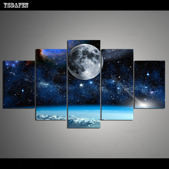 HD Printed Painting Canvas Printing Moon painting Room decor print poster picture canvas Framed Art HG-043