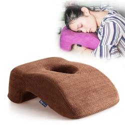 Pamięci bawełna aksamitna poduszka z otworami pamięci poduszka piankowa do biura do spania studentów poduszka s szyi poduszka podtrzymująca CF3|Poduszki podróżne|   -