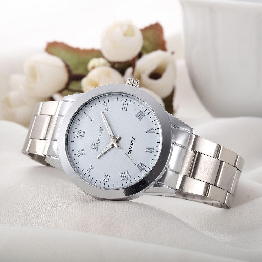 2017 New Geneva Women Wrist Watches Mens Unisex Sports Clock Ladies Luxury Stainless Steel Analog Quartz Watch Relogio Reloj #JO vi 274 ew 250v 48v 100w dc dc power supply module