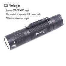 مانتا راي S21 أسود مصباح ليد جيب الشعلة ، مع مينوس SST 20 W LED باعث ، النحاس DTP مجلس ، تشغيل بواسطة 21700 أو 18650 بطارية