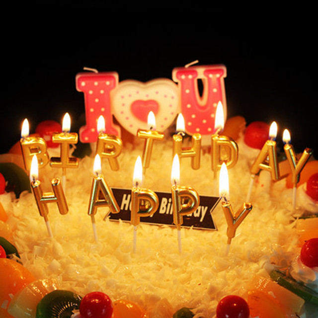 Cartoon Candle Cake Love Candles Accessories Bougies D Coratives Velas Night Light Happy Birthday Making JKK229
