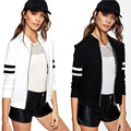 luck dog Fashion Women Casual Zipper Vintage Blazer Jacket Coat Outwear