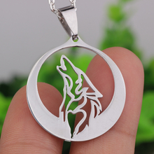 N400 Fashion jewelry High quality stainless steel wolf head necklace pendant Contains chain
