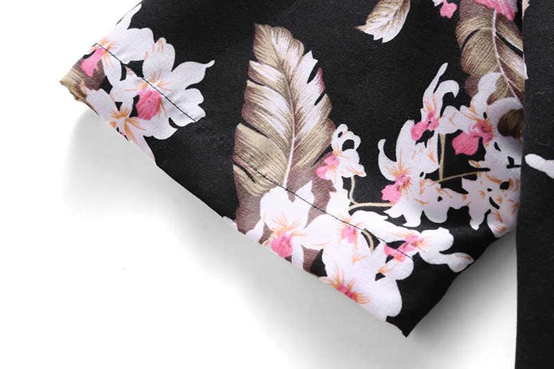 2019 夏新メンズカジュアル花シャツファッションハワイのビーチ半袖シャツ男性ブランド服プラスサイズ 5XL 6XL 7XL