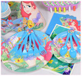 116pcs Little Mermaid Ariel Kids Birthday Decoration Set Baby Birthday Party pack