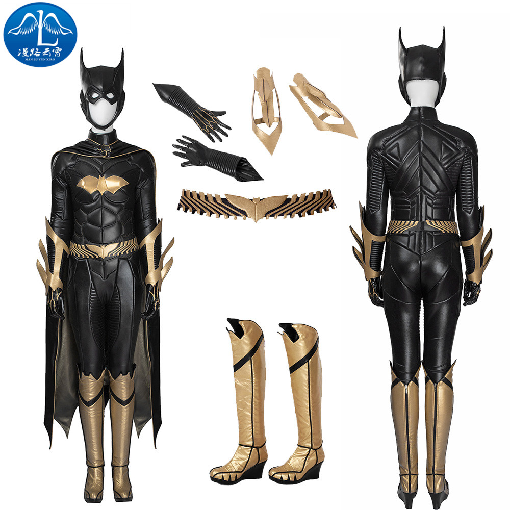 ManLuYunXiao Cosplay Costume Batgirl Custom Made Batman: Arkham Knight Girl Women Full Suit Any Size Cosplay Costume Black