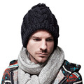Women Men Braided Baggy Knit Crochet Beanie  Ski Cap Winter Warm Cap Unsex DM#6