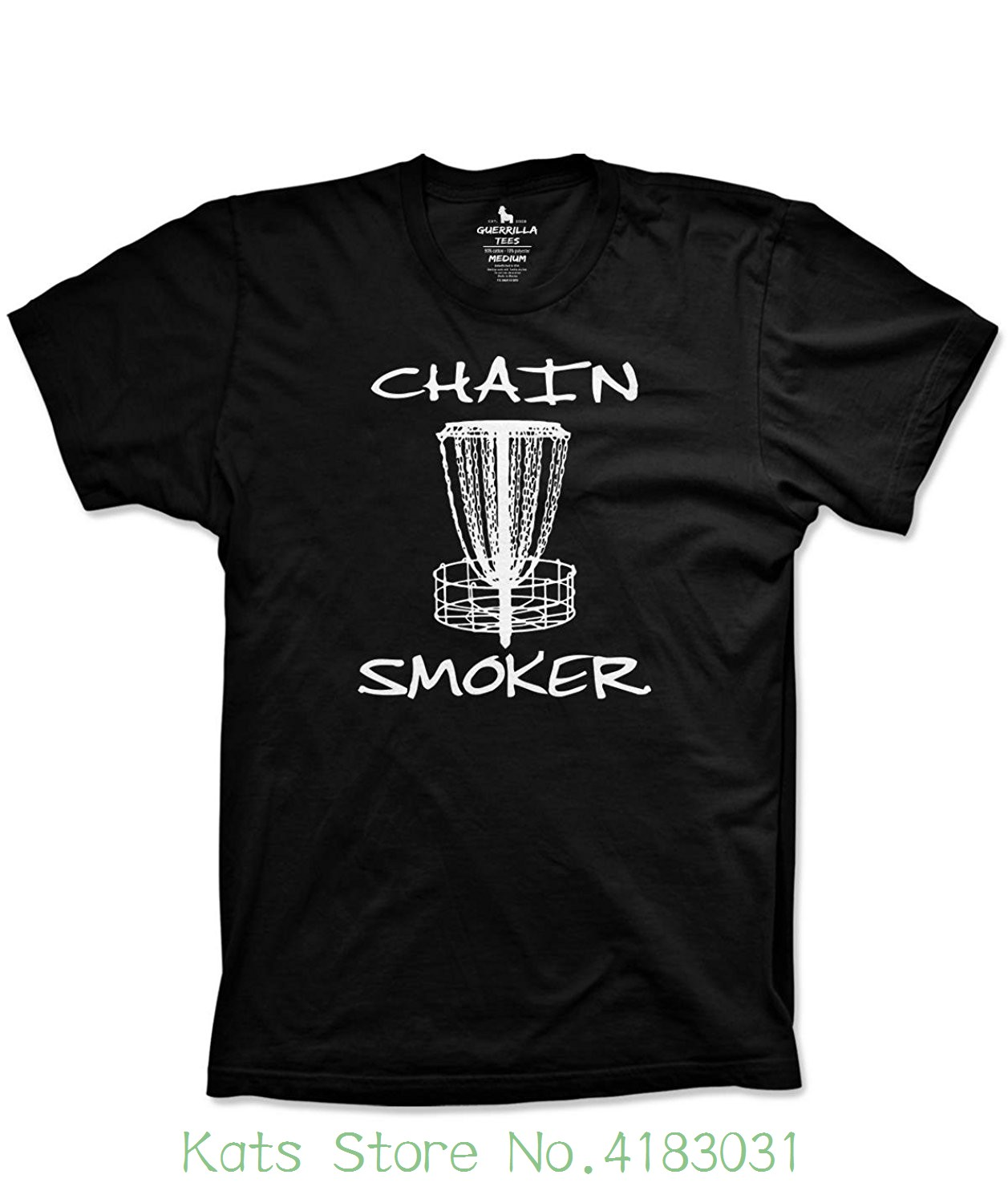Disc Golfer Funny Chain Smoker Shirt Frisbee Golf Summer Tshirts Men 2018 Brand Clothing Tees Casual