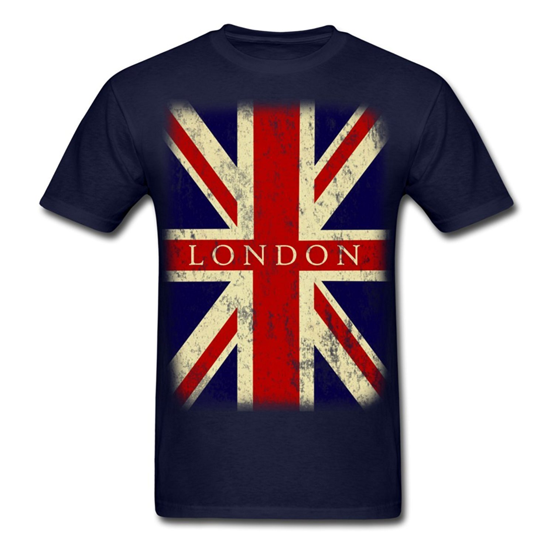 Mens 2017 New Tee Shirts Printing Vintage Uk London Flag Mens T