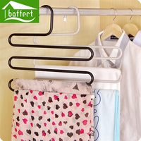 Stainless Steel Clothes Hanger With S Shaped Anti Slip Trousers Clip Storage Beads High Quality Storage