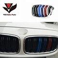 F10 M5-look хром блеск для губ на каждый день  3 цвета автомобильный Стайлинг Передняя гоночная решетка для BMW F10 M5 & F10 5 серии 520i 523i 525i 530i 535i