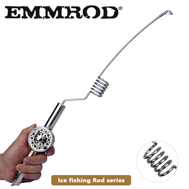 EMMROD Ice Fishing Rod SFZ Series Portable ice fishing rod Mini fishing rod Boat/Raft Rod Telescopic Fishing Rod SpinCasting Rod
