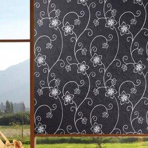 Image 1 - Anti UV Black Opaque Window Stickers Glass Film insulation Self adhesive Film Childrens room cupboard Home Decorative 80*200cm