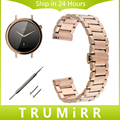 16mm Stainless Steel Watch Band Quick Release for Moto 360 2 42mm Women Huawei Talkband B3 Butterfly Buckle Strap Wrist Bracelet