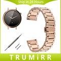 16mm venda de reloj de acero inoxidable de liberación rápida para moto 360 2 42mm mujeres huawei talkband b3 butterfly hebilla de la correa pulsera
