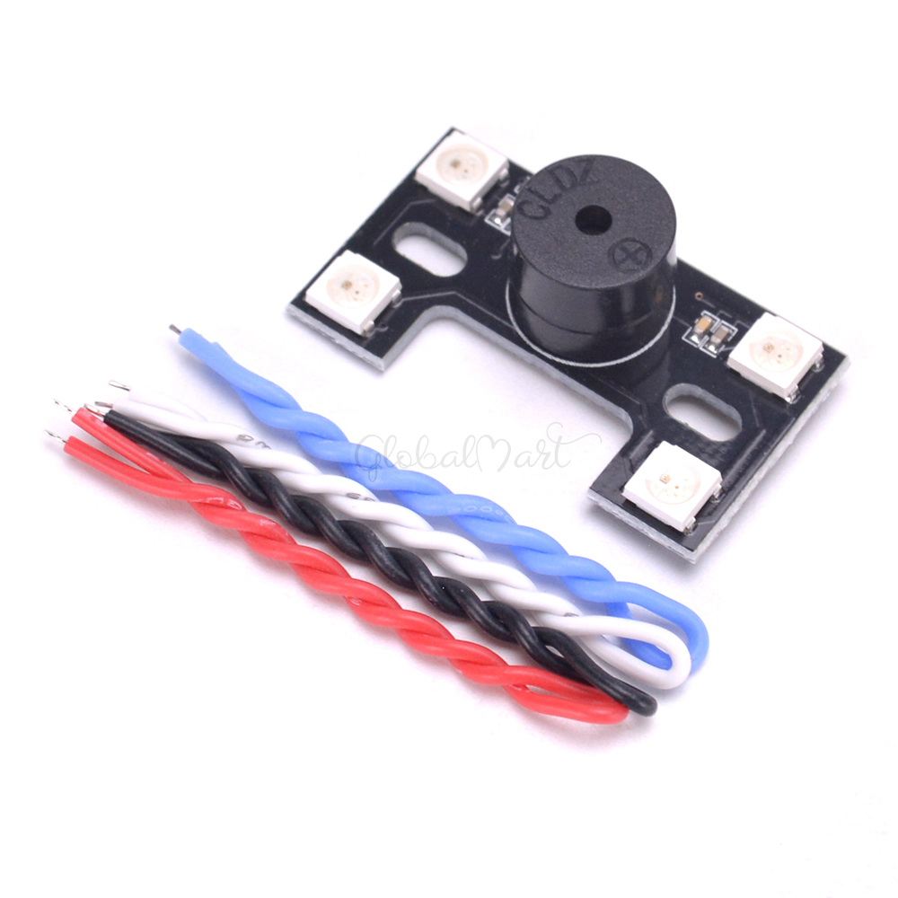 Multicopter Drone Ws2812b 4 5 5 2v Led Light Board Led H Type Tail Buzzer Alarm For F3