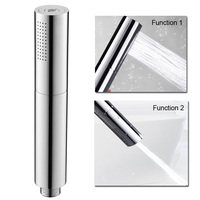 Hotel 2 Functions Brass Hand Shower Massage Handheld Showerhead Chrome Surface Finished