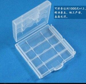 Funda de plástico para caja de almacenamiento, cubierta para 14500 10440, bolsa de almacenamiento de baterías AA AAA, caja tipo organizador
