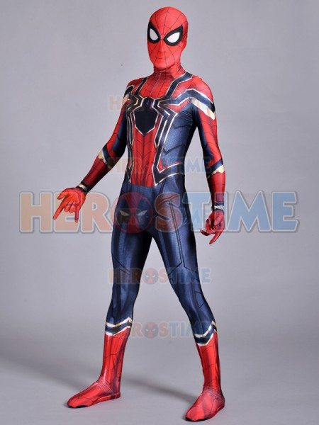 Iron Homecoming Spiderman Costume Cosplay 3D Print Zentai Iron Spider man Movies Costumes Spidey