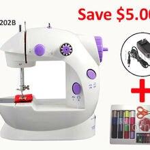 Домашняя электрическая мини швейная машина IH202B с адаптером питания 66 шт. комплект качелей бытовая Sartorially швейная машина подарок для детей