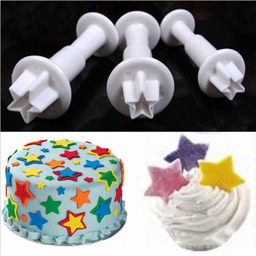 Buy Christmas Kitchen Tools 3pcs Set Mini Star Cake Decorating Tools Cupcake