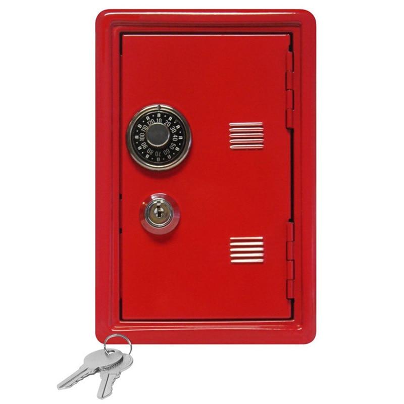 Mini metal safes password key dual-use safe box creative home crafts ornaments small security cash jewelry storage box el izi okumali silah kasası