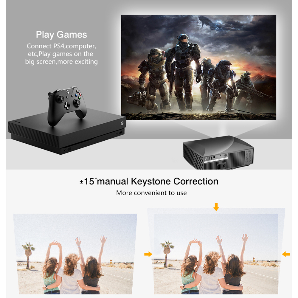 Image 2 - Vivicine F30 1920X1080 Full HD Projector, HDMI USB PC 1080p LED Home Multimedia Video Game Projector ProyectorLCD Projectors   -