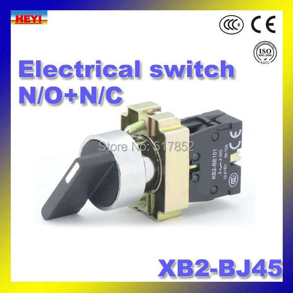 N/O + N/C XB2-BJ45 поворотный переключатель 2 позиции кнопочный 22 мм поворотный переключатель 50/ 60 Гц