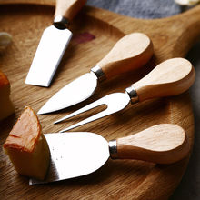 4pcs/Set Stainless Steel Cheese Knife Bamboo Handle Cheese Slicer Practical Cheese Cutter For Home Picnic Kitchen Accessories cheese rolling races