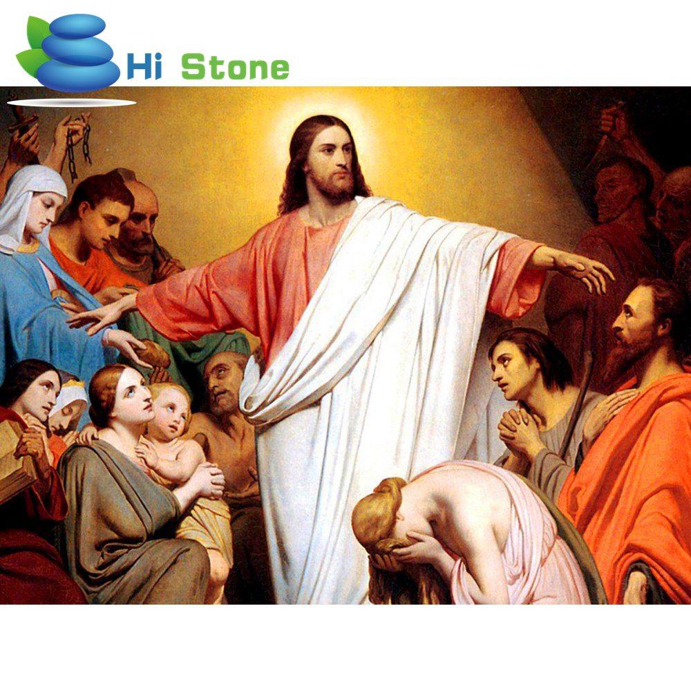 Распродажа 5D Сделай Сам алмаз живопись религия Вышивка крестом домашнего декора Даймонд мозаика религиозных для людей подарок 70228