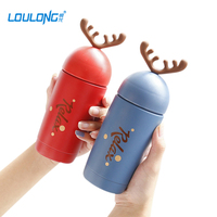 Christmas Deer Thermos Flask Insulation Thermo Cup Stainless Steel Vacuum Water Bottle Coffee Mug Cute Insulated
