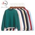 2016 Outono Inverno Mulheres Hoodies Camisola Ocasional Pullover Doce Jaqueta Casaco Outwear Tops Plus Size de Lã Solta treino
