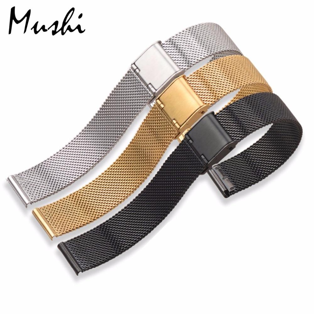 Milanese Stahlarmband für DW Armband Armband Silber Edelstahlarmband - Uhrenzubehör - Foto 5
