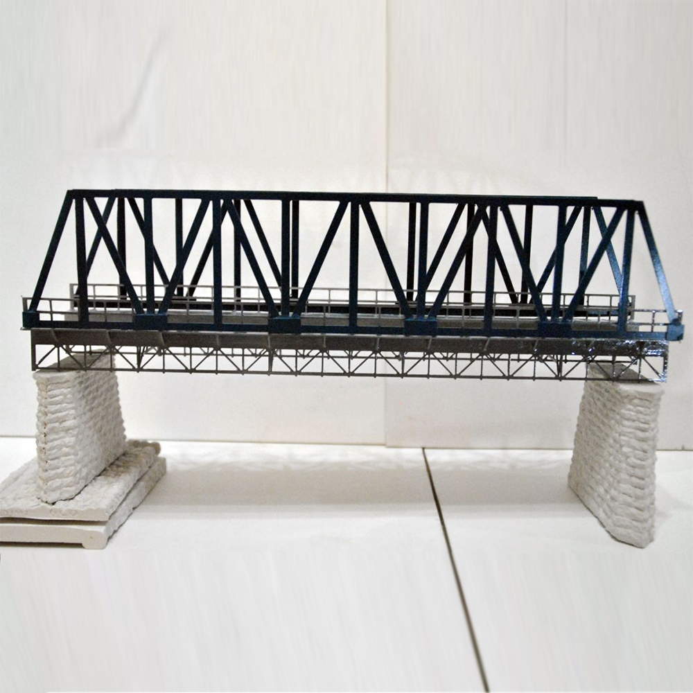 1:87 scale elevated railway bridge model kit architectural model material sand table model unassemble architectural material & detail structure wood