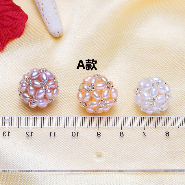 f8bbdc5919fec US $6.5 |Swarovski earrings women's pearls DIY pearl ball accessories free  cordless chain matching can be used as silver earrings pendant-in Earrings  ...