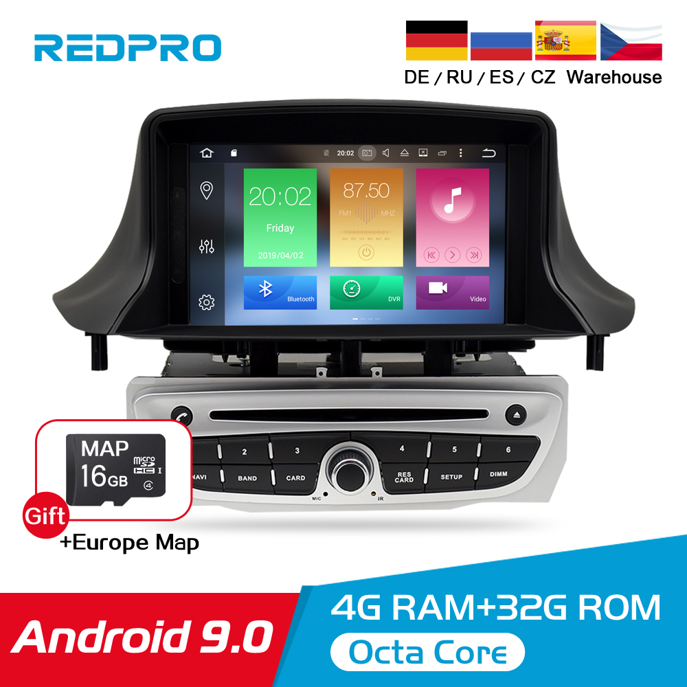 IPS Android 9.0 Car <font><b>DVD</b></font> Multimedia Play For Renault <font><b>Megane</b></font> 3 2009 2010 2011 2012 Fluence 4G RAM <font><b>GPS</b></font> Navigation Stereo Audioradio image