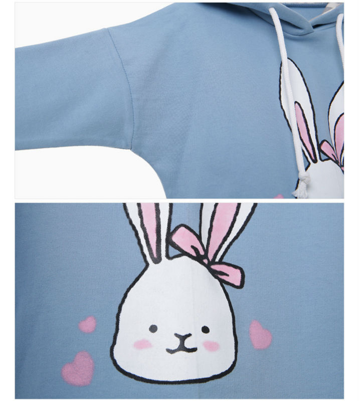 baby girl cartoon rabbit printed hoodies sweatshirt children clothing (5)