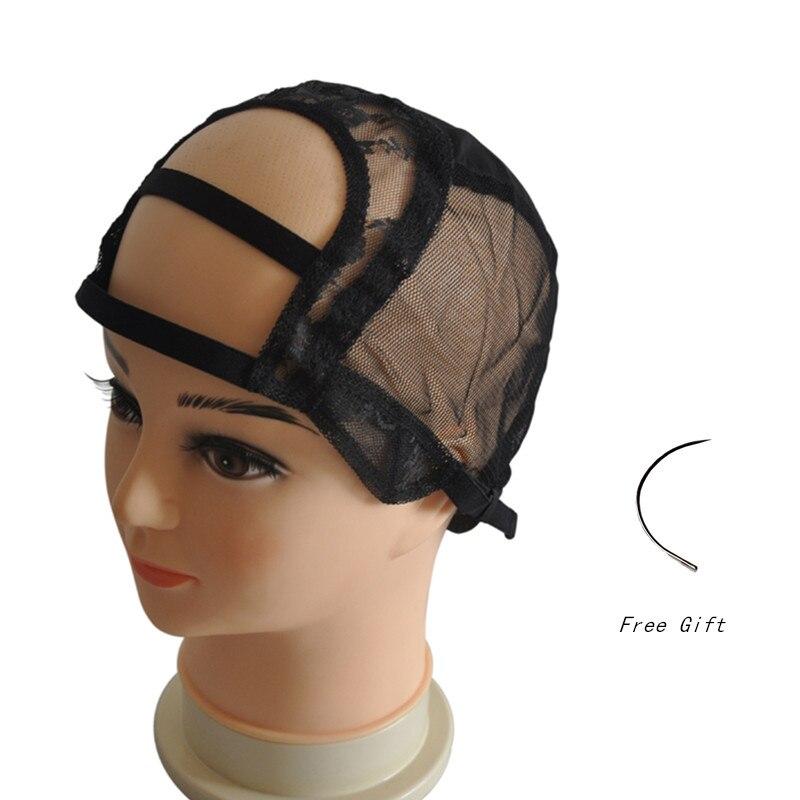 4 * 4 U 가변 스트랩과 가발을 만들기위한 가발 모자 Fishnet 메쉬 직조 모자 Glueless 가발 모자 좋은 품질 크기 S / M / L