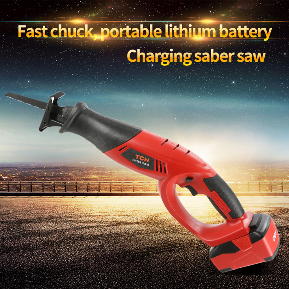 high quality reciprocating saws with 18V 3000mAh lithium battery saber saw portable cordless electric power tools jig saw
