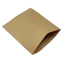 Wholesale Brown Kraft Paper Bakery Greaseproof Packing Bag Bread Sandwich Fried Food Oil-Proof Kraft Paper Storage Package Bag